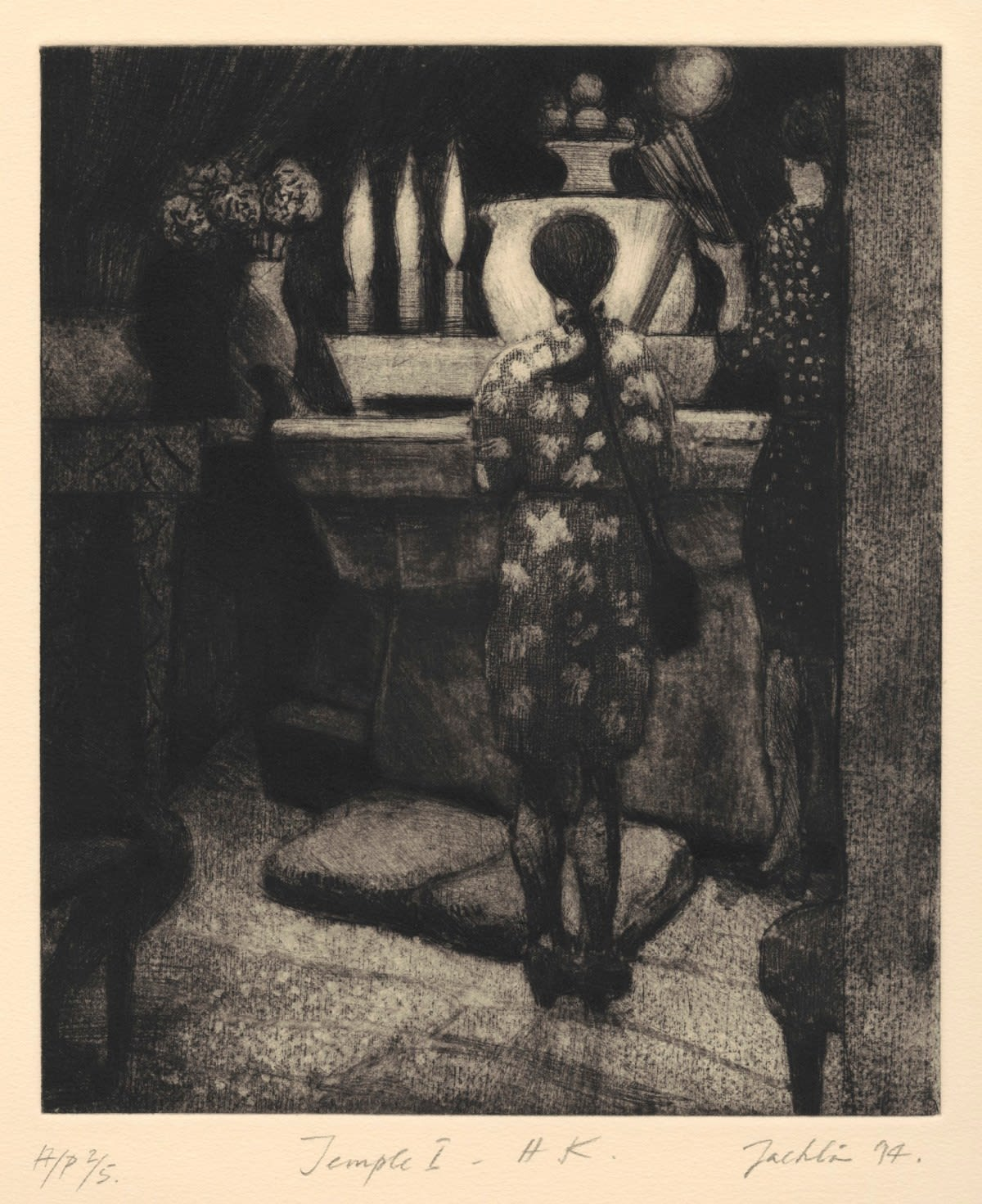 Bill Jacklin RA, Temple I - H. K, 1994 Etching & Aquatint