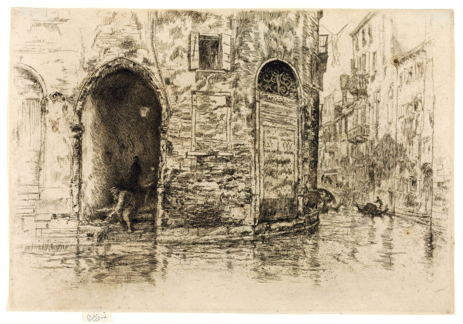 James Abbott McNeill Whistler, The Two Doorways, from Twelve Etchings, 1879-80 Etching