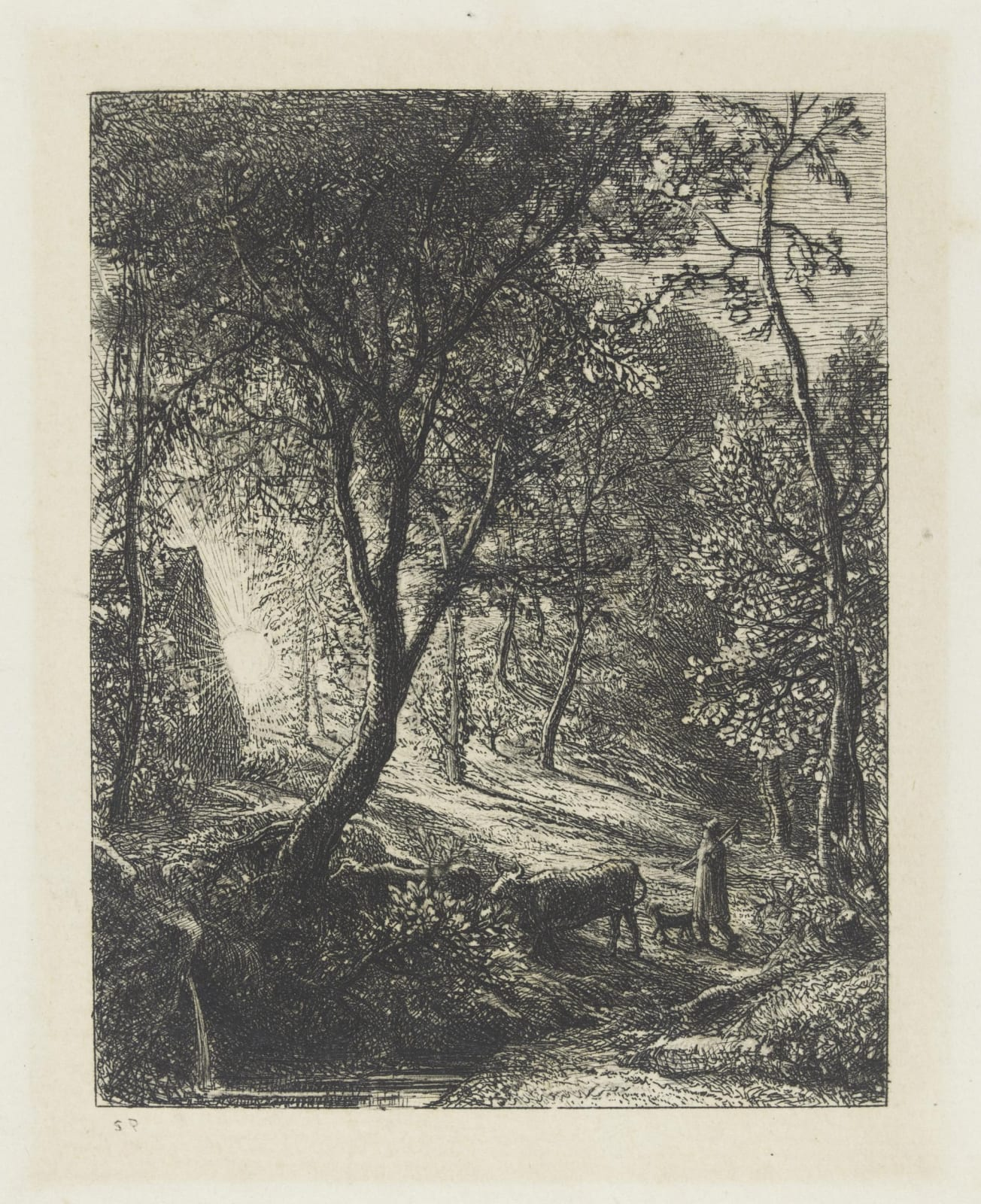 Samuel Palmer, The Herdsman's Cottage, 1850 Etching