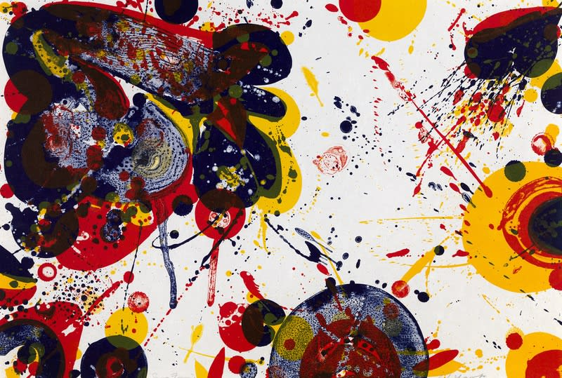 Sam Francis, Untitled, 1964 Lithograph