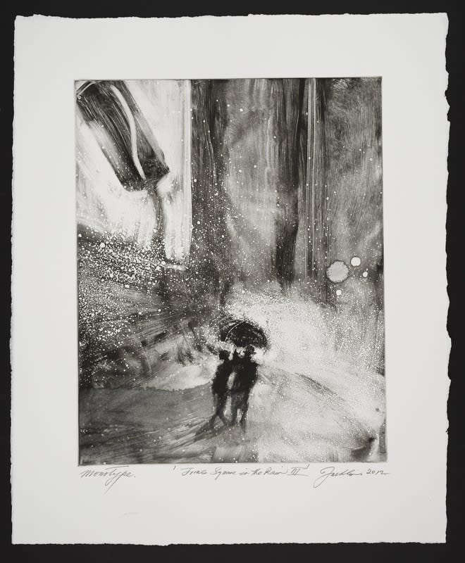 Bill Jacklin, Times Square in the Rain III, 2012 Monotype