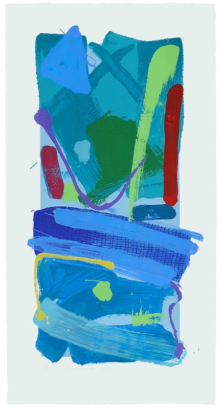 Anthony Frost, Blue Crayola (2016) Screenprint