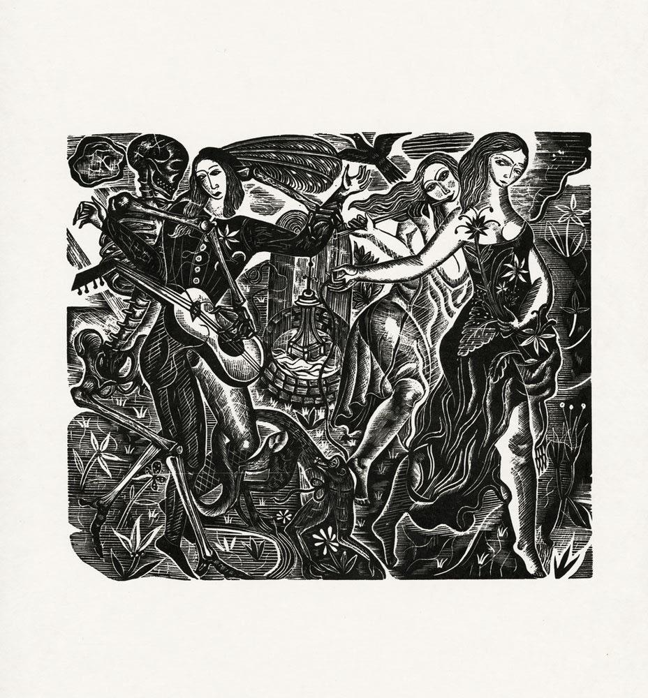 David Jones, Everyman, 1929 Wood Engraving