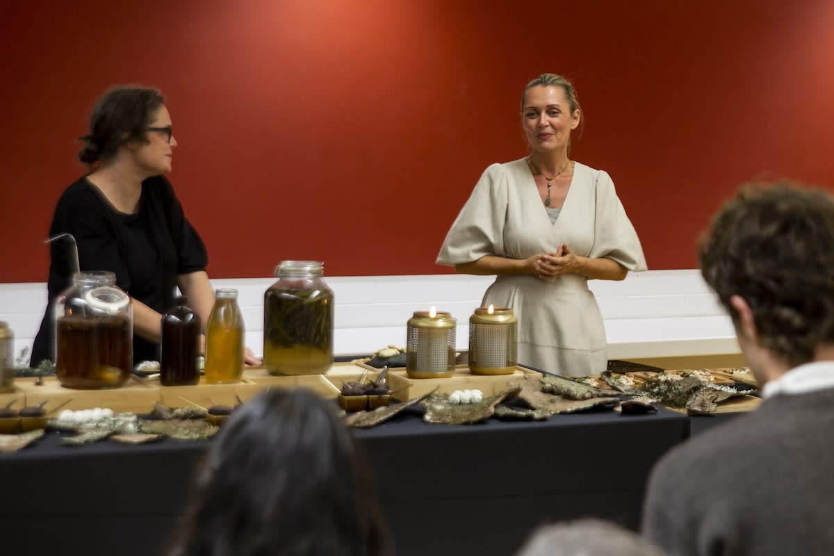 Art, food and storytelling flowed seamlessly creating another new frontier of multi sensory art.