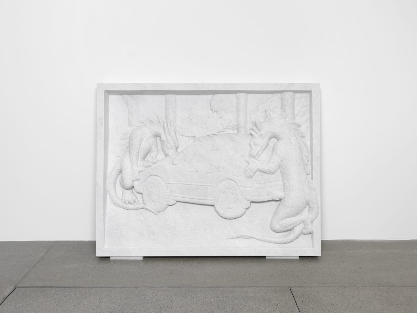 Jon Rafman, Dragons Fucking Car I (Relief), 2016