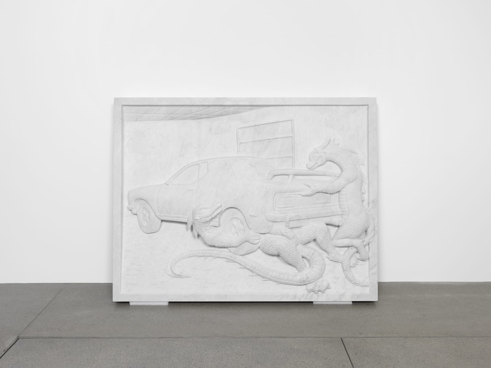 Jon Rafman, Dragons Fucking Car II (Relief), 2016
