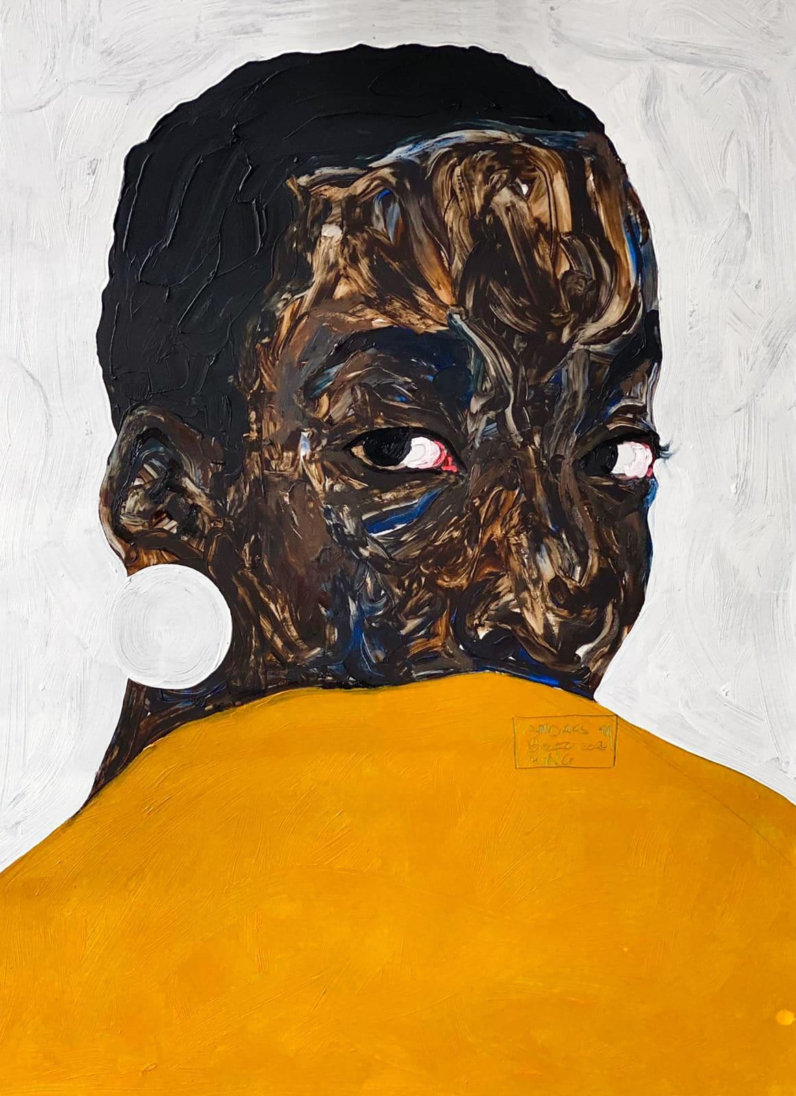 Amoako Boafo, Aurore Iradukunda, 2020.