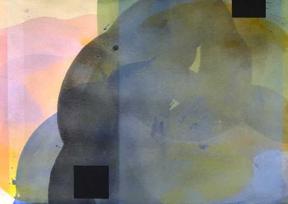 Brices' watercolor transparencies form compelling shapes of color.