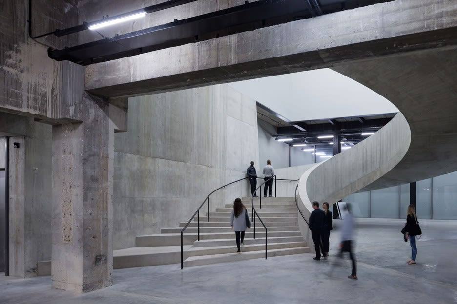 Herzog & de Meuron's Switch House stairwells at Tate Modern, London