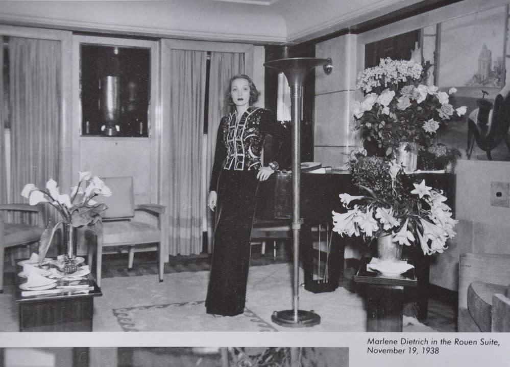 The Normandie featuring Marlene Dietrich New York, 1935
