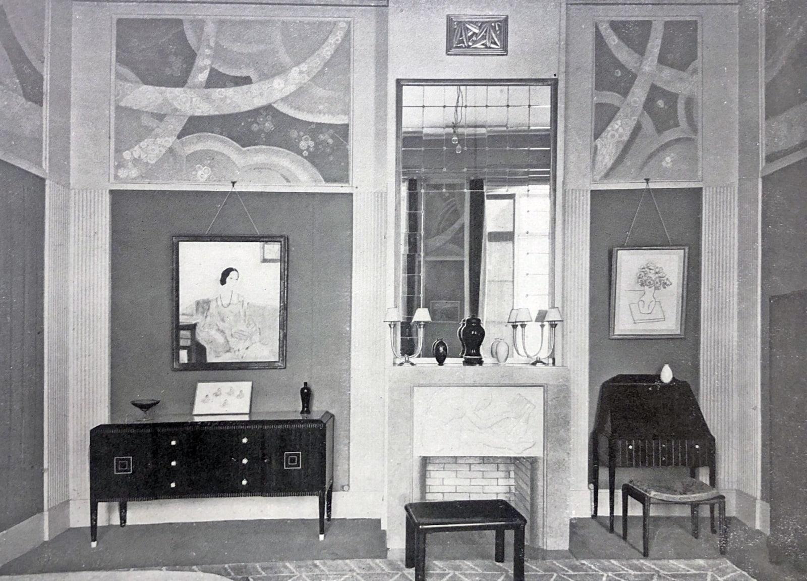 Art Deco master bedroom by DIM. Paris, 1925