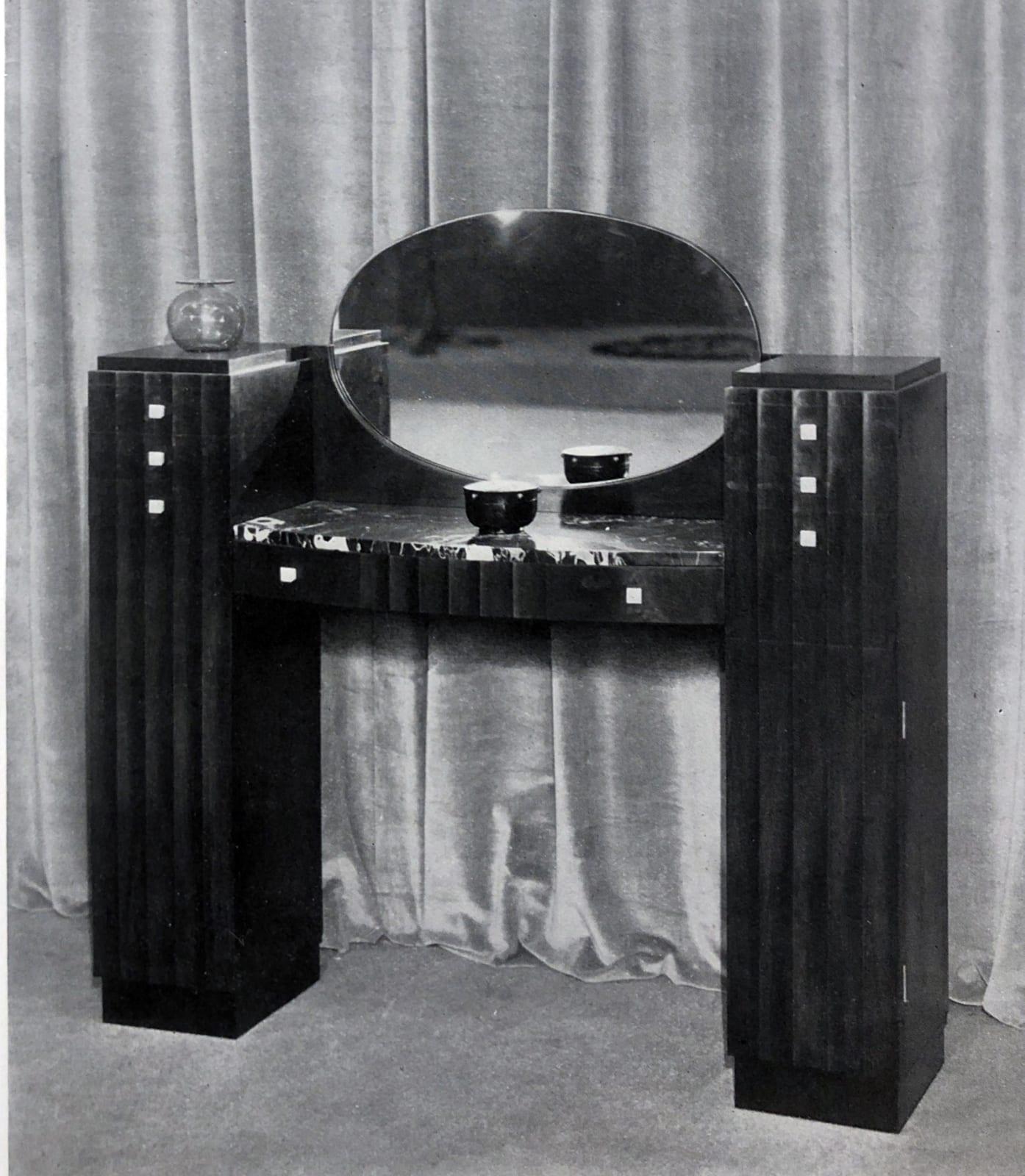 Art Deco vanity table Paris, 1928