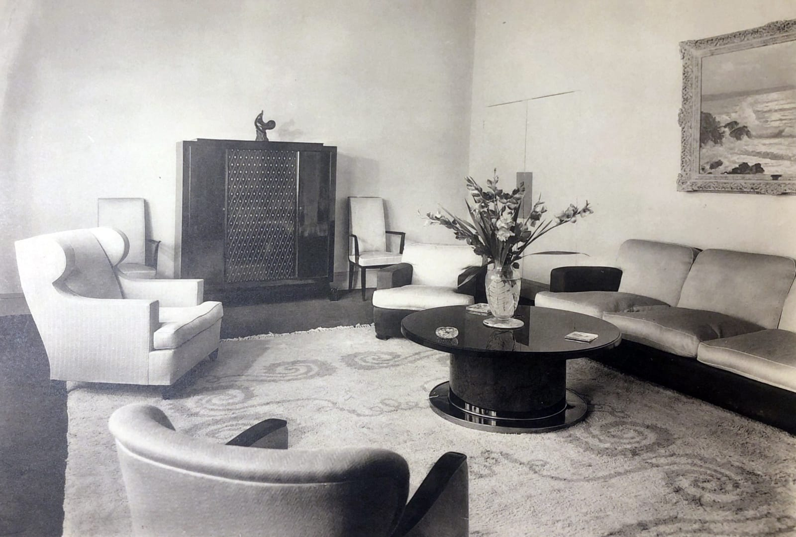Jean Pascaud Art Deco Living room Paris, 1935