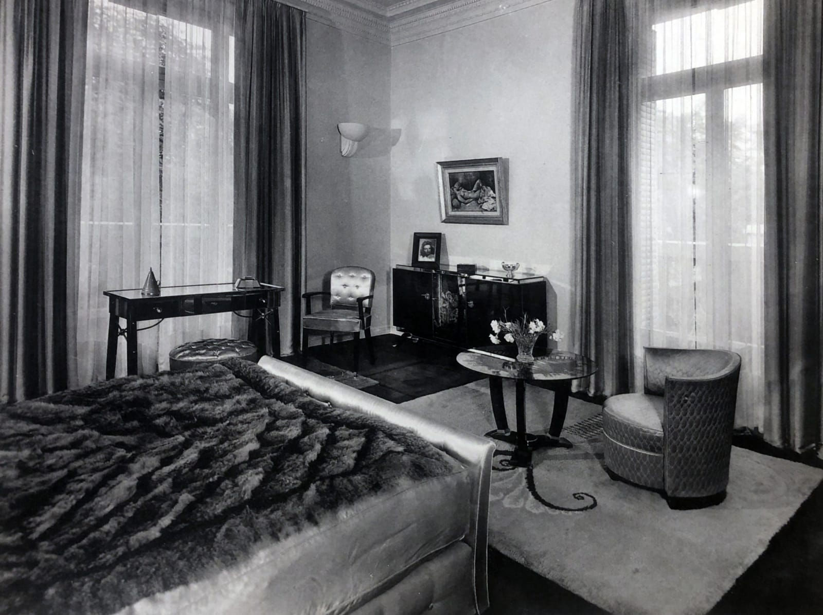 Art Deco bedroom by Jules Leleu. Paris, 1935