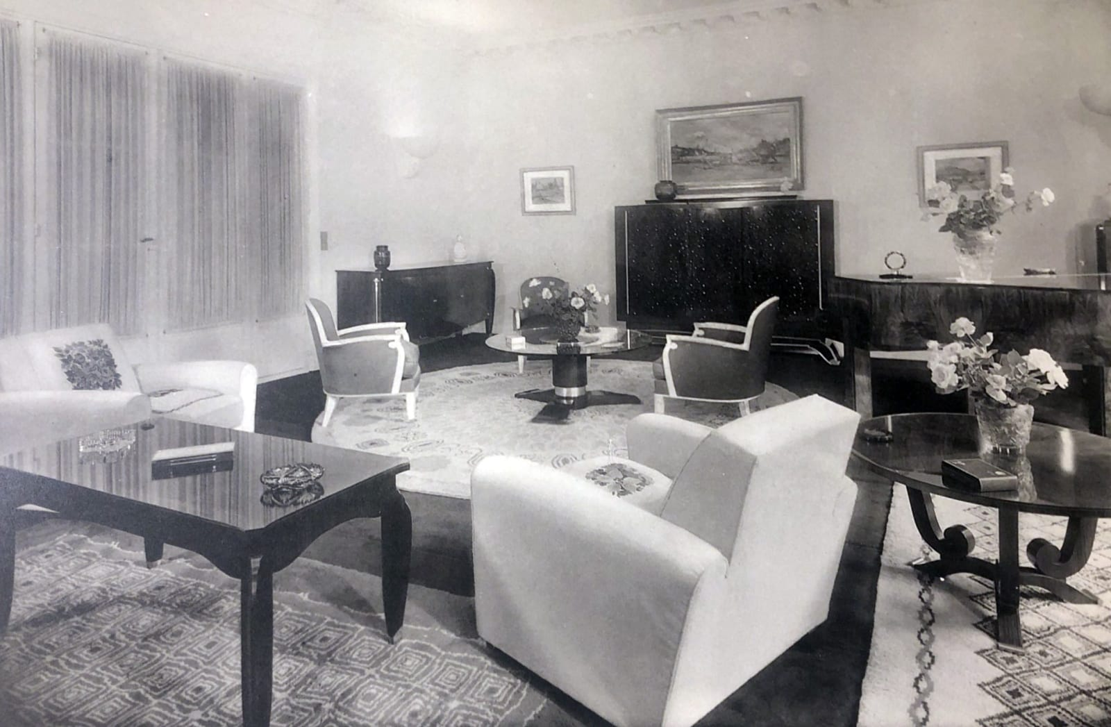 Art Deco livingroom by Jules Leleu Paris, 1935