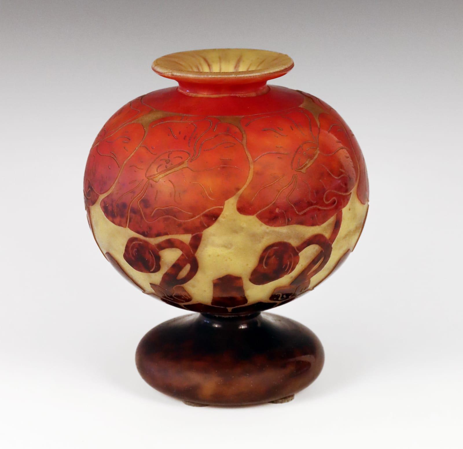 Le verre Francais Art Deco glass vase France, 1925