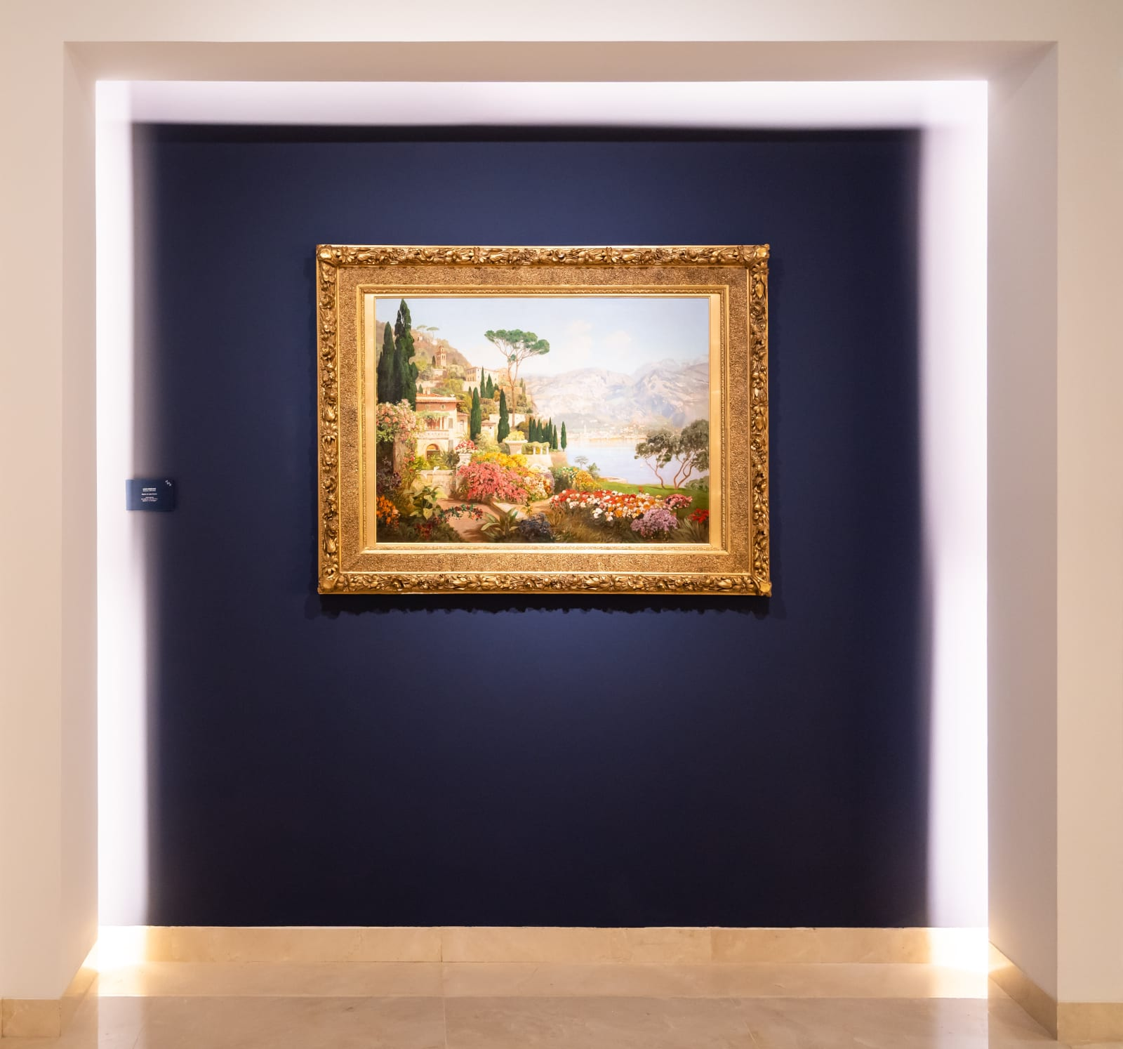 ALOIS ARNEGGER (Austrian, 1879-1963) Scene on Lake Garda Oil on Canvas 74 x 100 cm / 29 x 39 1/3 in. Signed l.l.