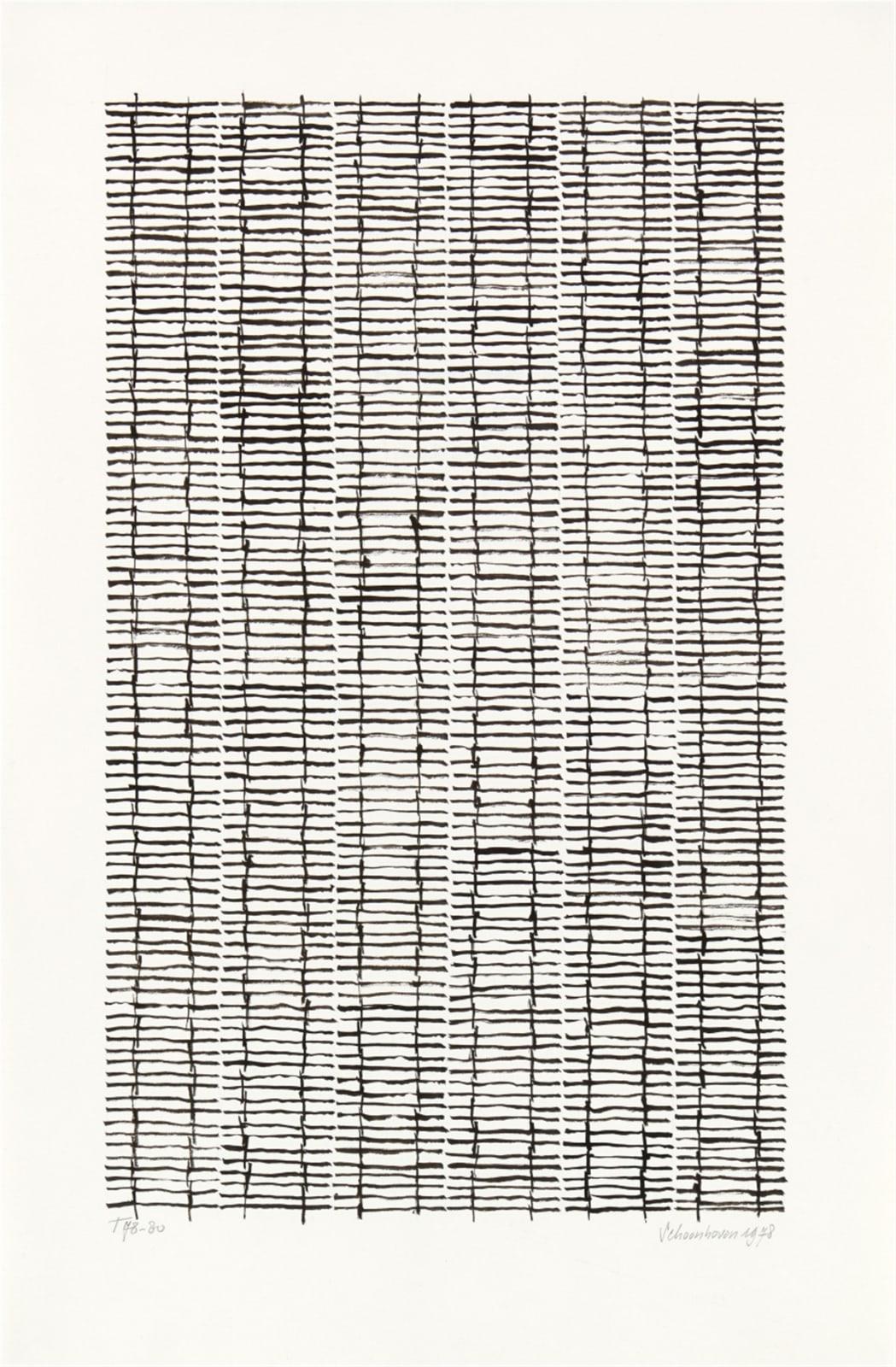 JAN SCHOONHOVEN, T 78-80, 1978