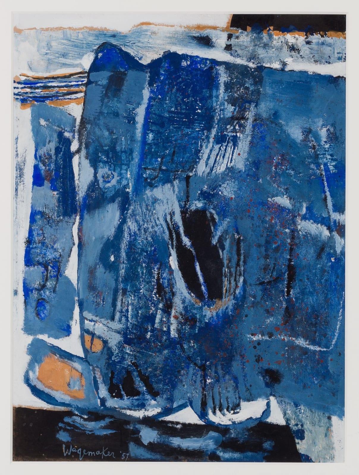 JAAP WAGEMAKER, Compositie in blauw, 1957