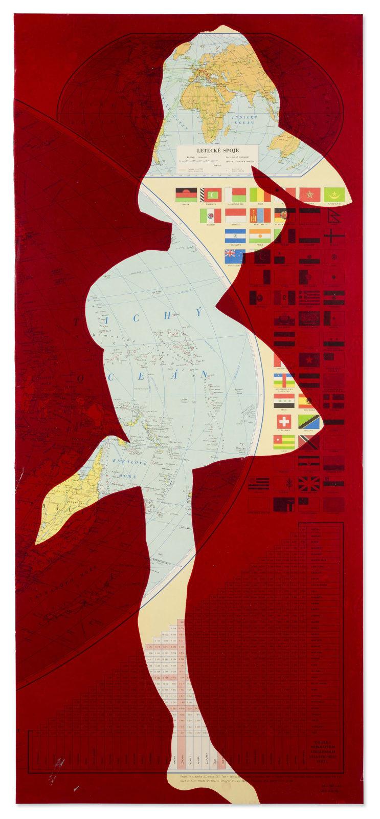 STANO FILKO, Map of the World (Woman), 1967