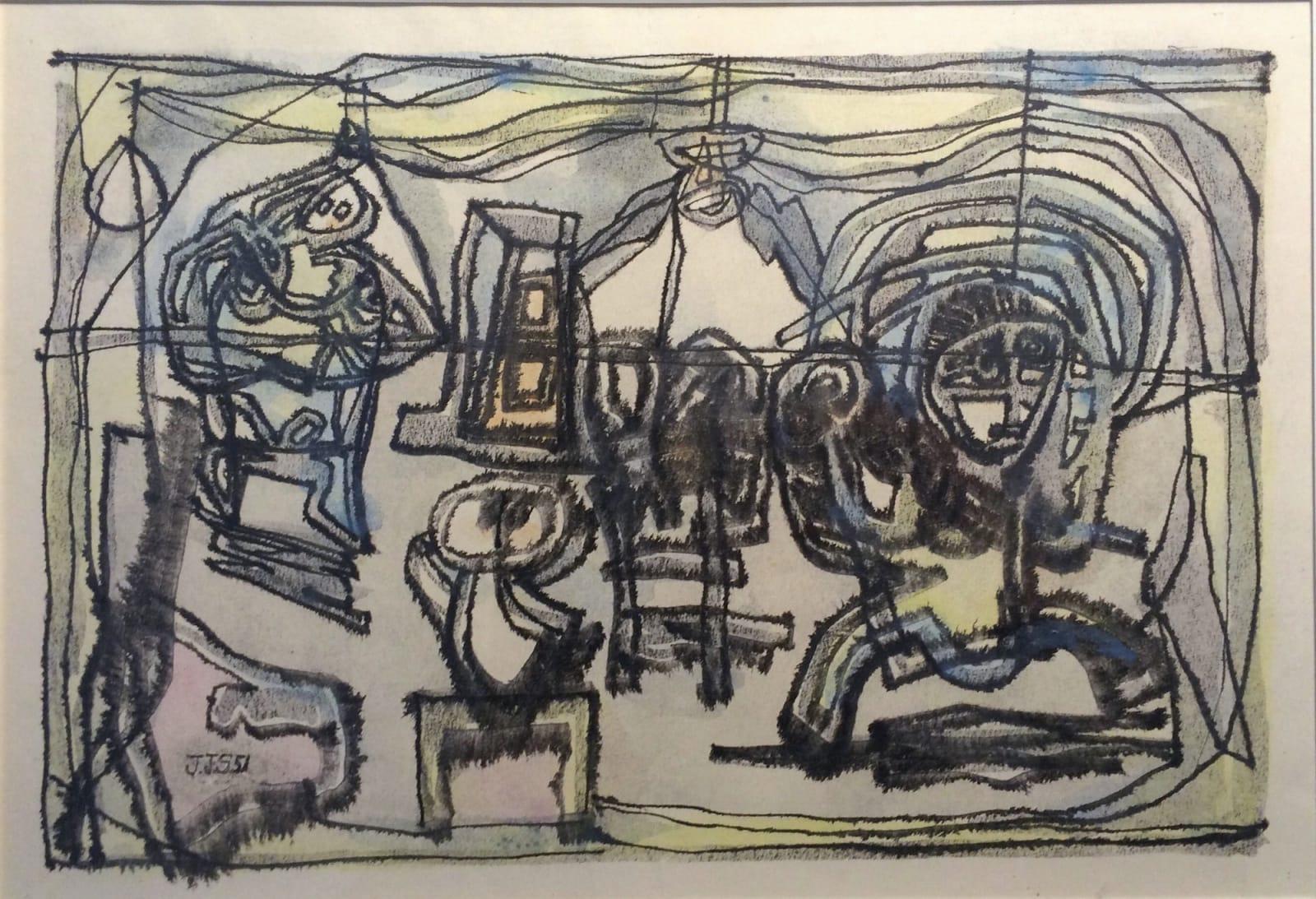 JAN SCHOONHOVEN, De Familie, 1951