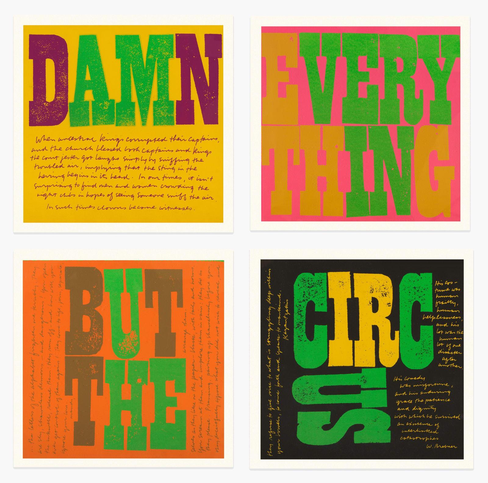 SISTER MARY CORITA KENT, Damn / Everything / But The / Circus, 1968-70