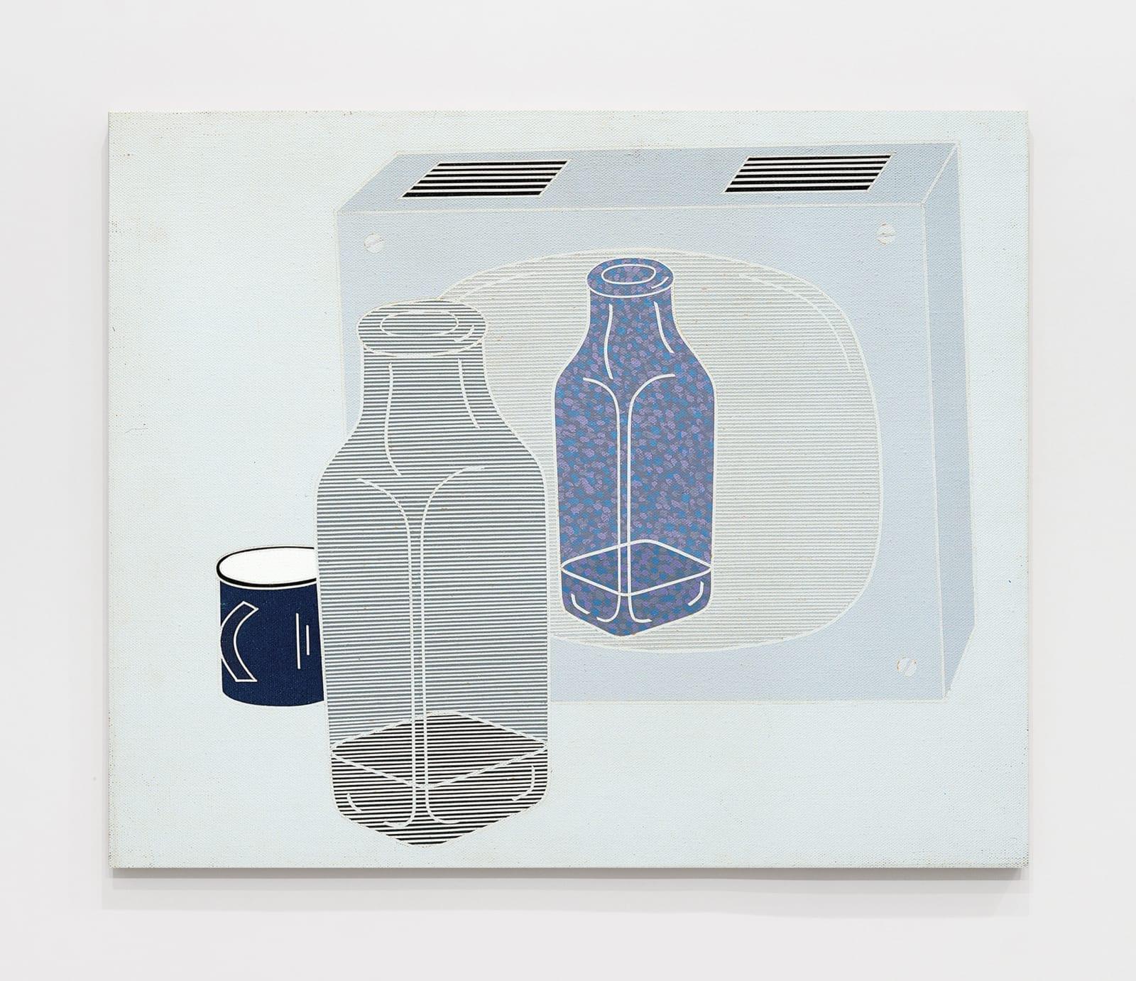 Circuito Chiuso. La Bottiglia / Closed Circuit. The Bottle 1969 Acrylic on canvas 23 5/8 x 28 3/4 inches (60 x 73 cm)