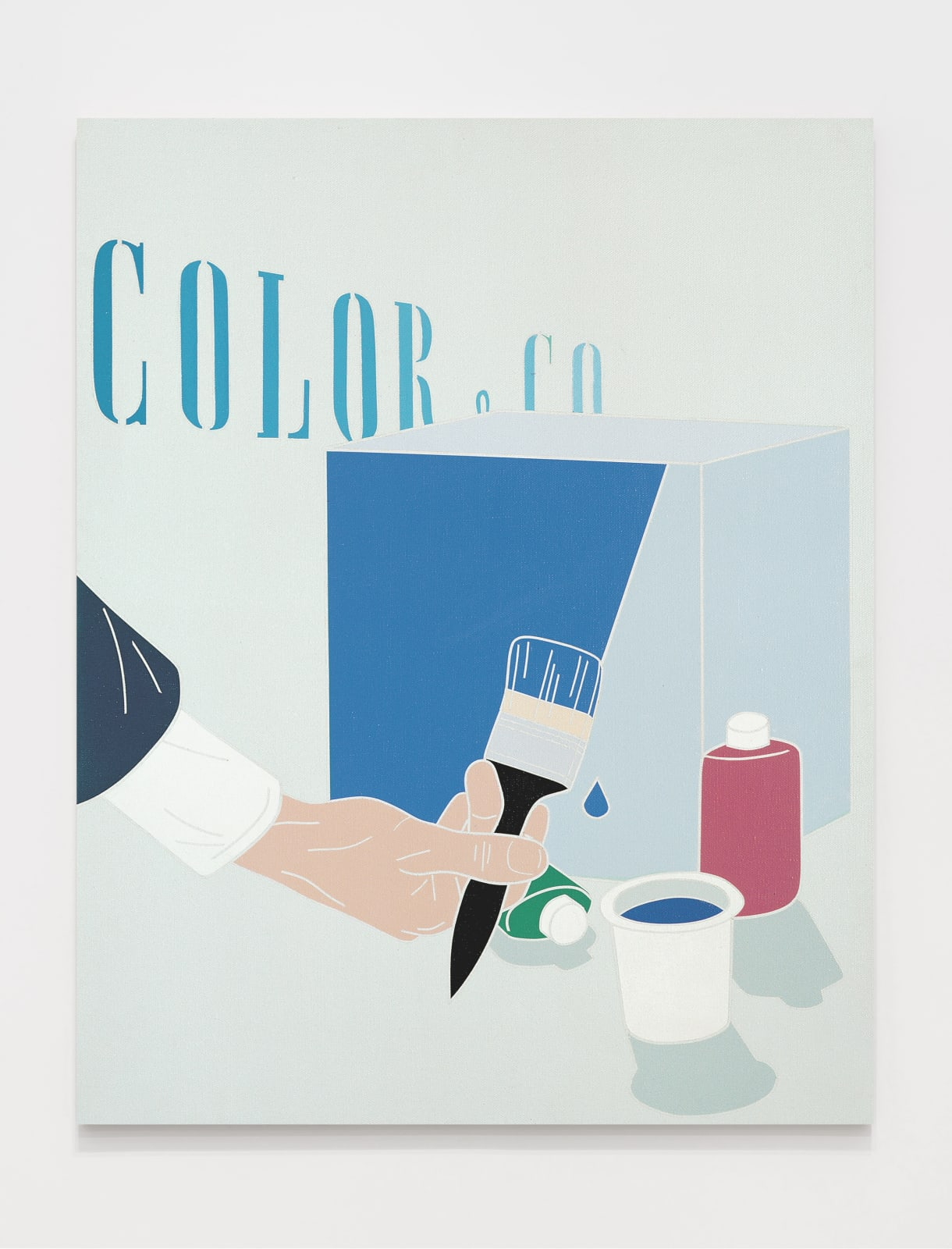 Color & Co. 1969 Acrylic on canvas 36 1/4 x 28 3/4 inches (92 x 73 cm)