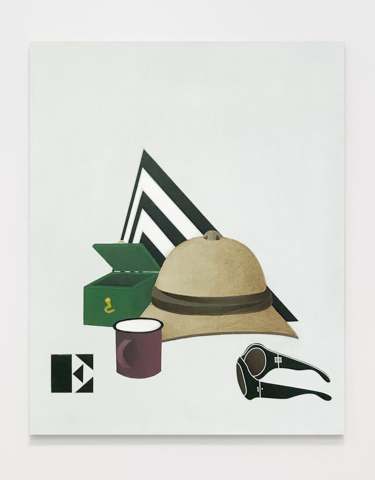 Viaggio in Italia / I Travel to Italy 1971 Acrylic on canvas 31 7/8 x 25 5/8 inches (81 x 65 cm)