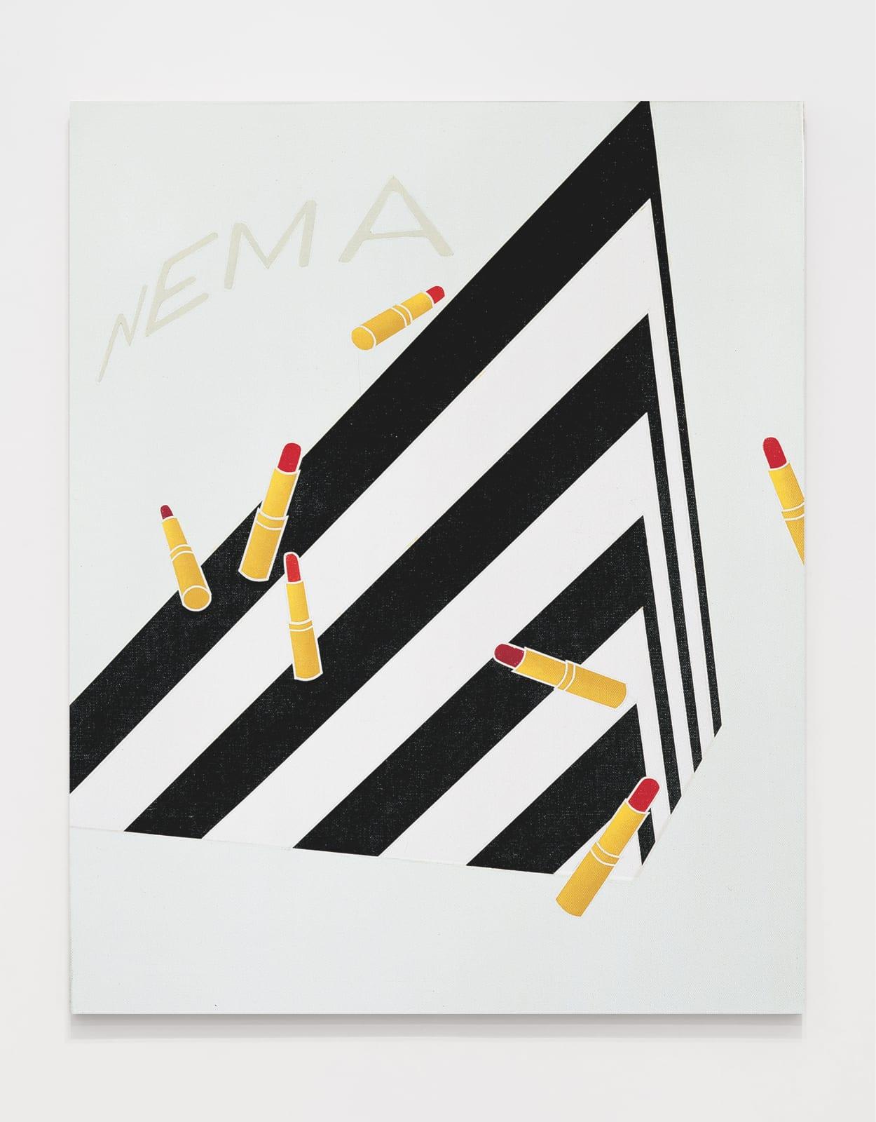 Viaggio in Italia / I Travel to Italy 1972 Acrylic on canvas 39 3/8 x 31 7/8 inches (100 x 81 cm)