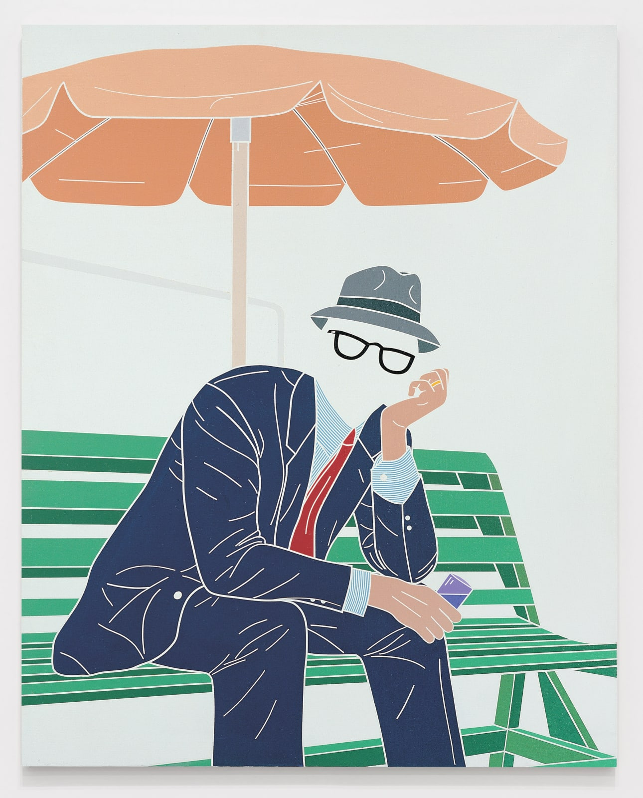 EMILIO TADINI, L'uomo dell'organizzazione. Weekend al parco (The Man of the Organisation. Weekend at the Park), 1968 Acrylic on canvas 162 x 130 cm 63 ¾ x 51 ⅛ inches