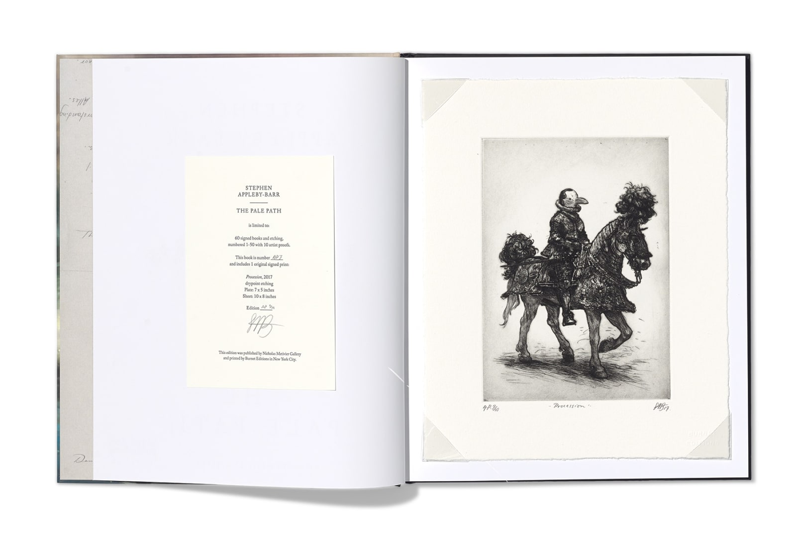 Stephen Appleby-Barr   The Pale Path Limited edition book & drypoint etching