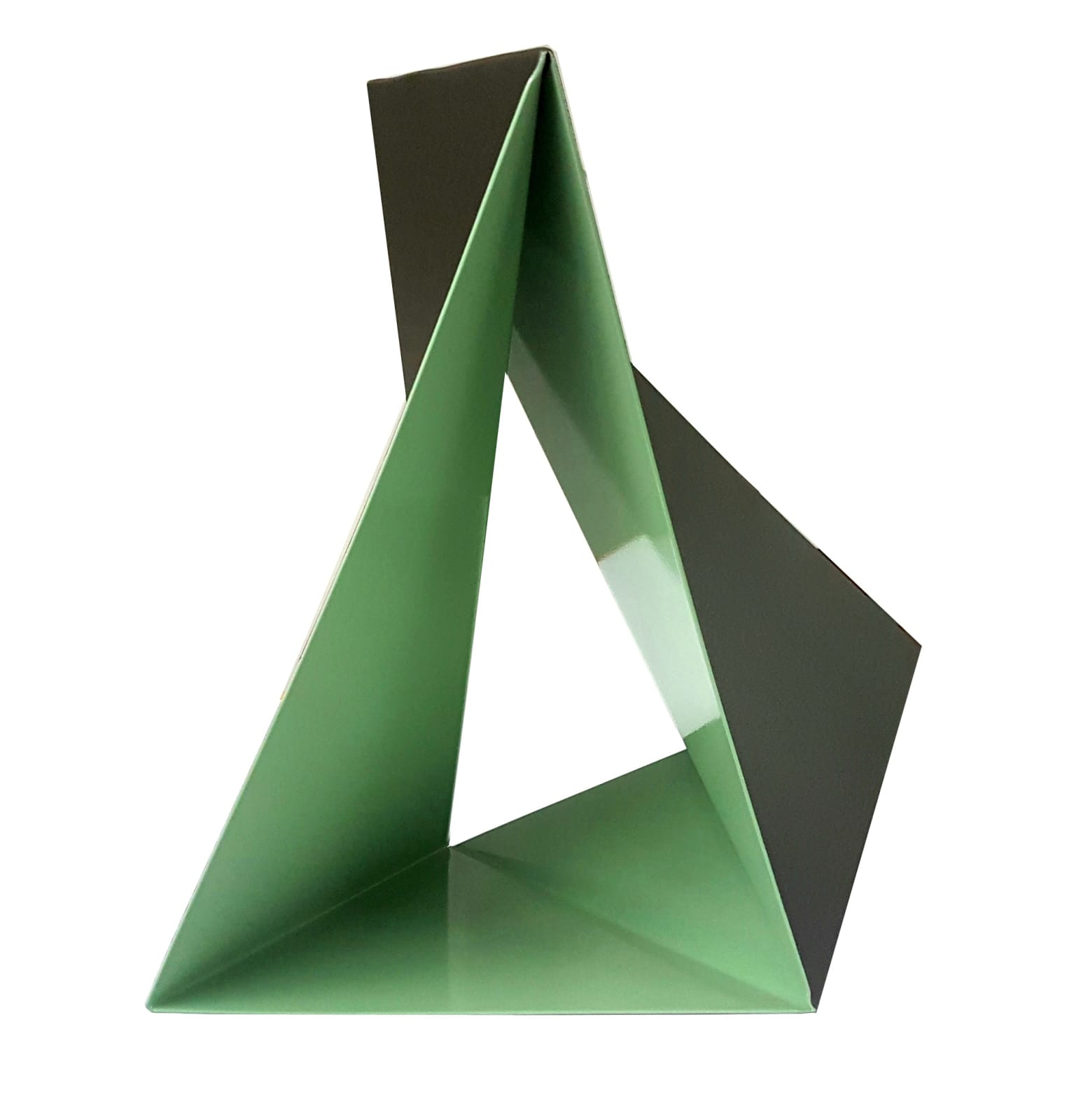Origami Bicolor No.11, 2007 Cut and folded lacquered steel 15 7/10 in 40 cm Edition of 3