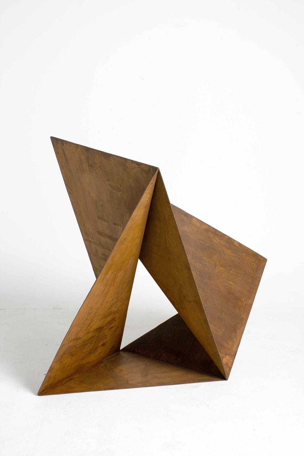 Origami No. 10, 2007 Cut and folded rusted Steeel 42 9/10 × 42 9/10 × 25 1/5 in 109 × 109 × 64 cm
