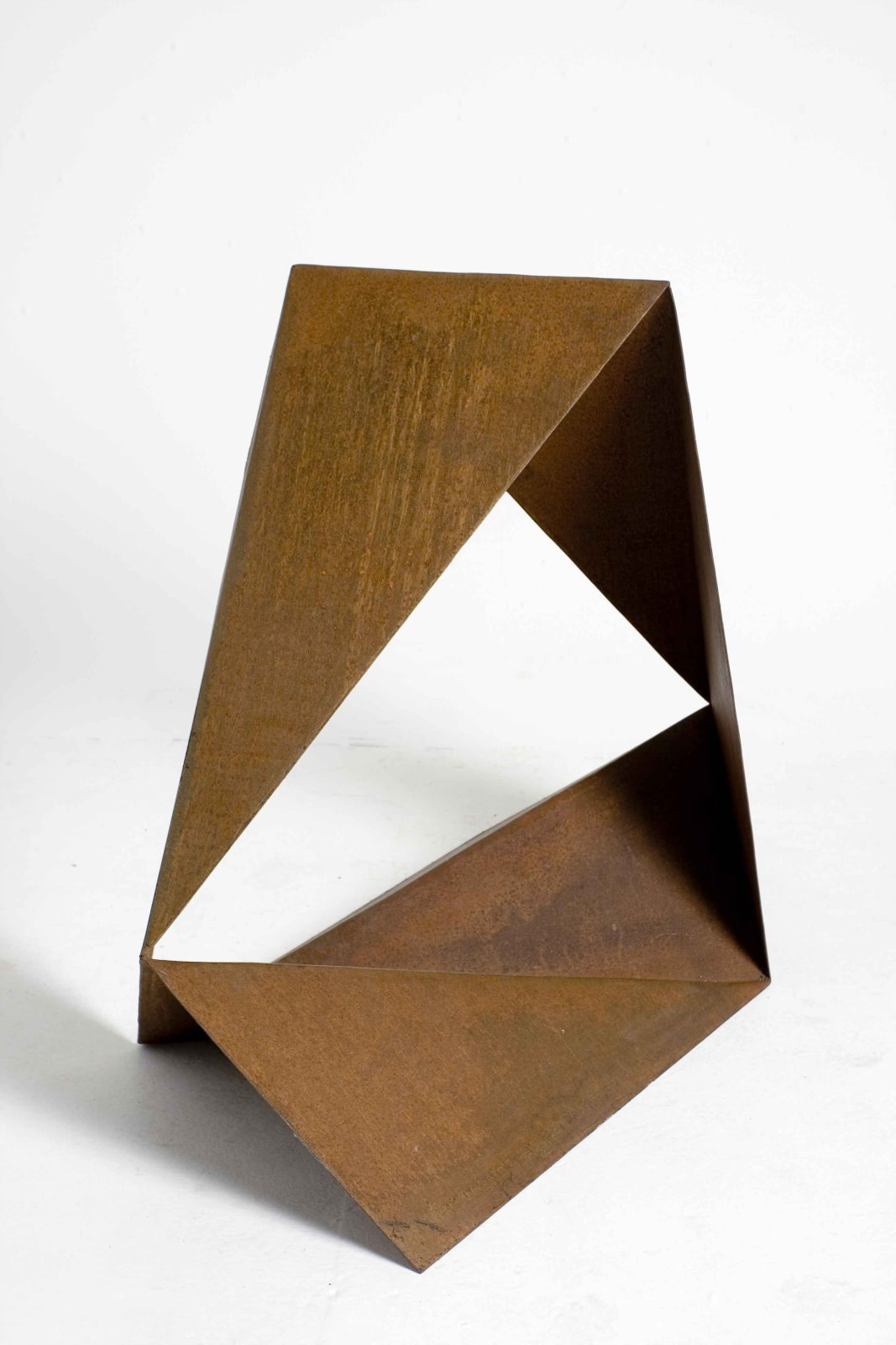 Origami No.11, 2007 Cut and Folded Rusted Steel 39 × 47 1/5 × 22 4/5 in 99 × 120 × 58 cm