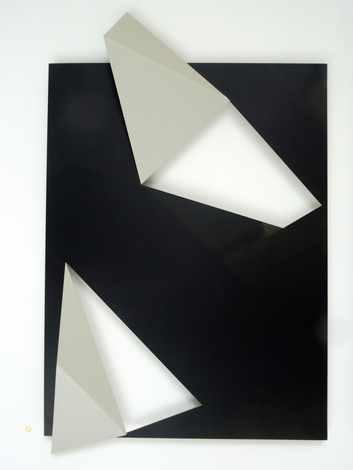 Urban Tectonic No.4, 2018 Cut and Folded Printed Aluminium Plate 42 1/10 × 28 7/10 in 107 × 73 cm