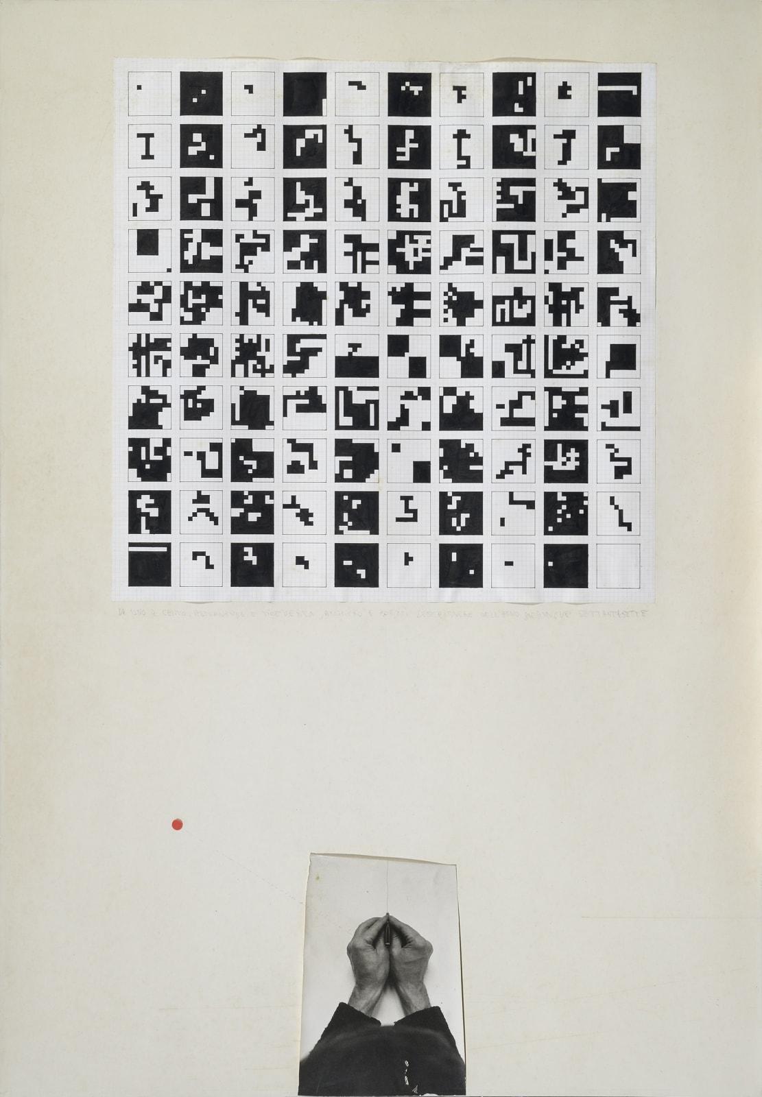 Alighiero Boetti Due mani e una matita (Alternando da uno a cento e viceversa), 1977