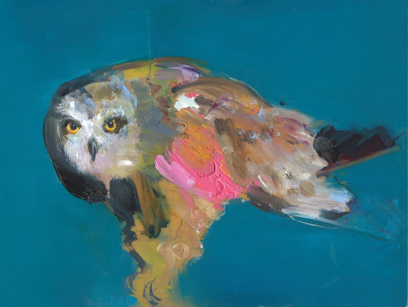 Gabhann Dunne  Suibhne  Oil on gesso panel  18 x 24 cm