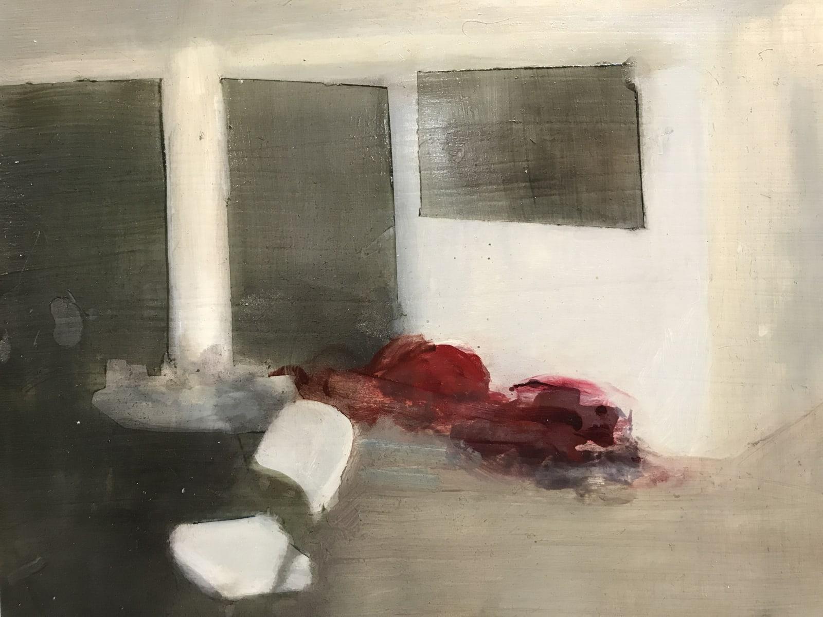 Conor Foy Flat Screen Oil on birch panel 28 x 36 cm