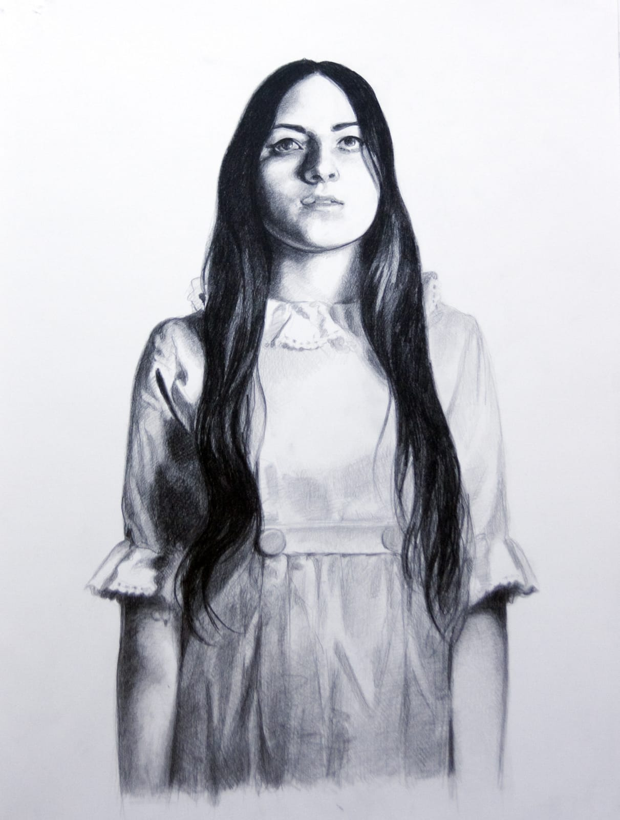 Mercedes Helnwein Shelby Pencil on paper 24 x 20