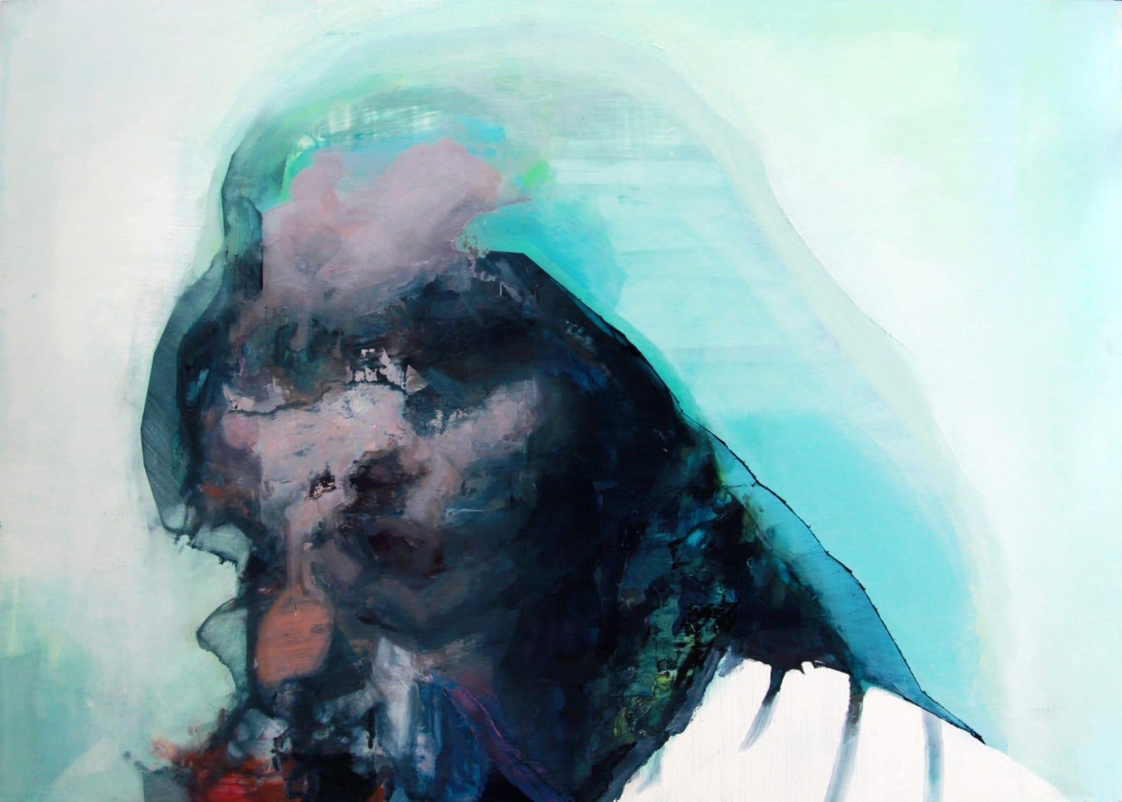 Cian McLoughlin Tronie - Woman leaning forward Oil on canvas 20 x 28 inches