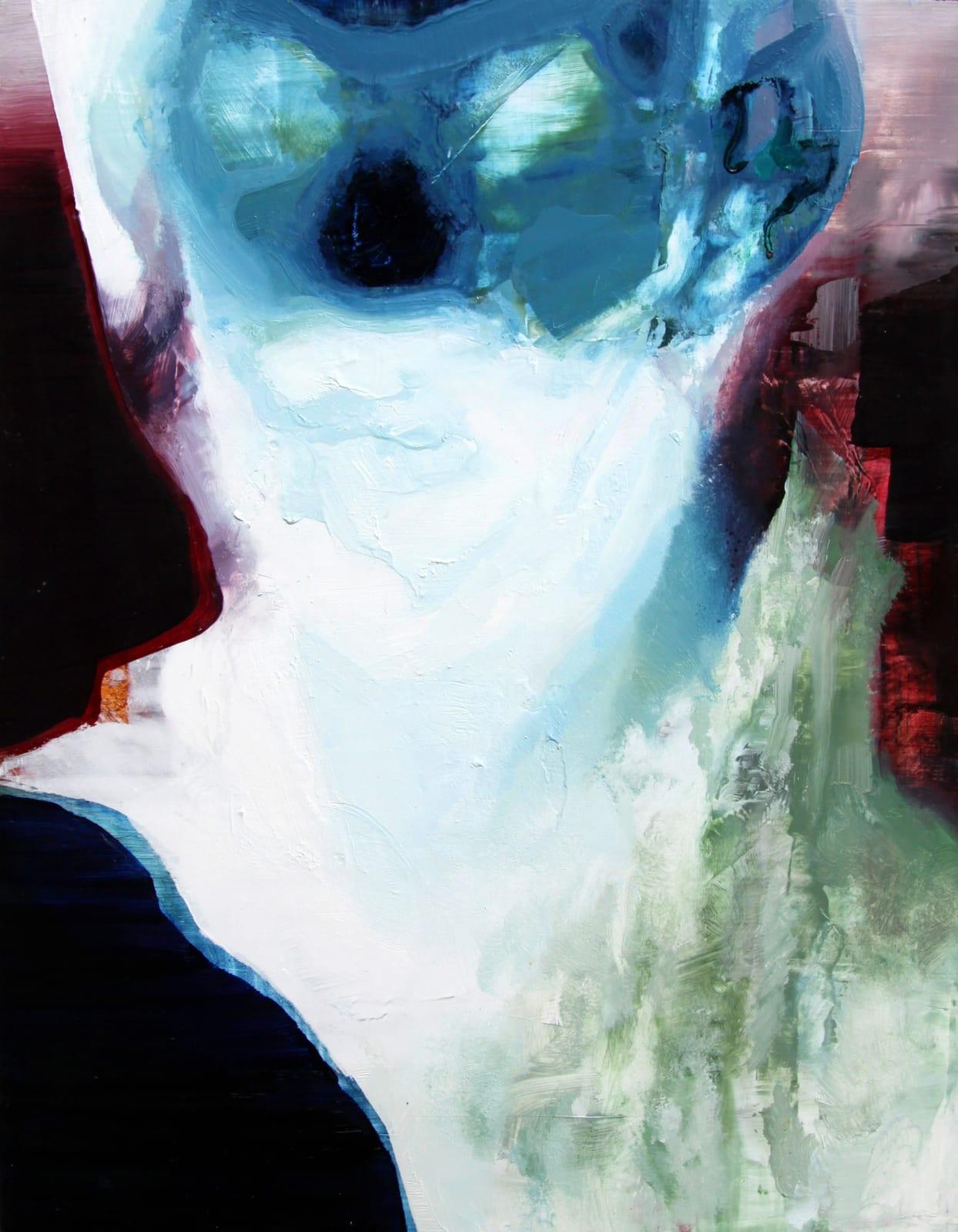Cian McLoughlin Tronie - Invert head Oil on canvas 18 x 14 inches