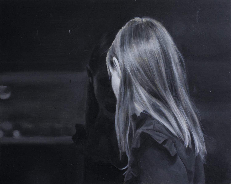 Patrick Redmond Dark mirror Oil on gesso panel 20 x 25 cm
