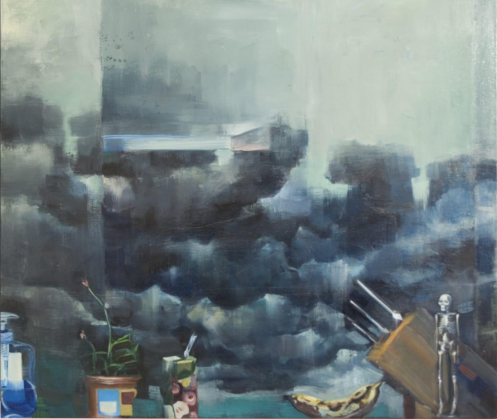 Vera Klute Skeleton Oil on canvas 85 x 100cm