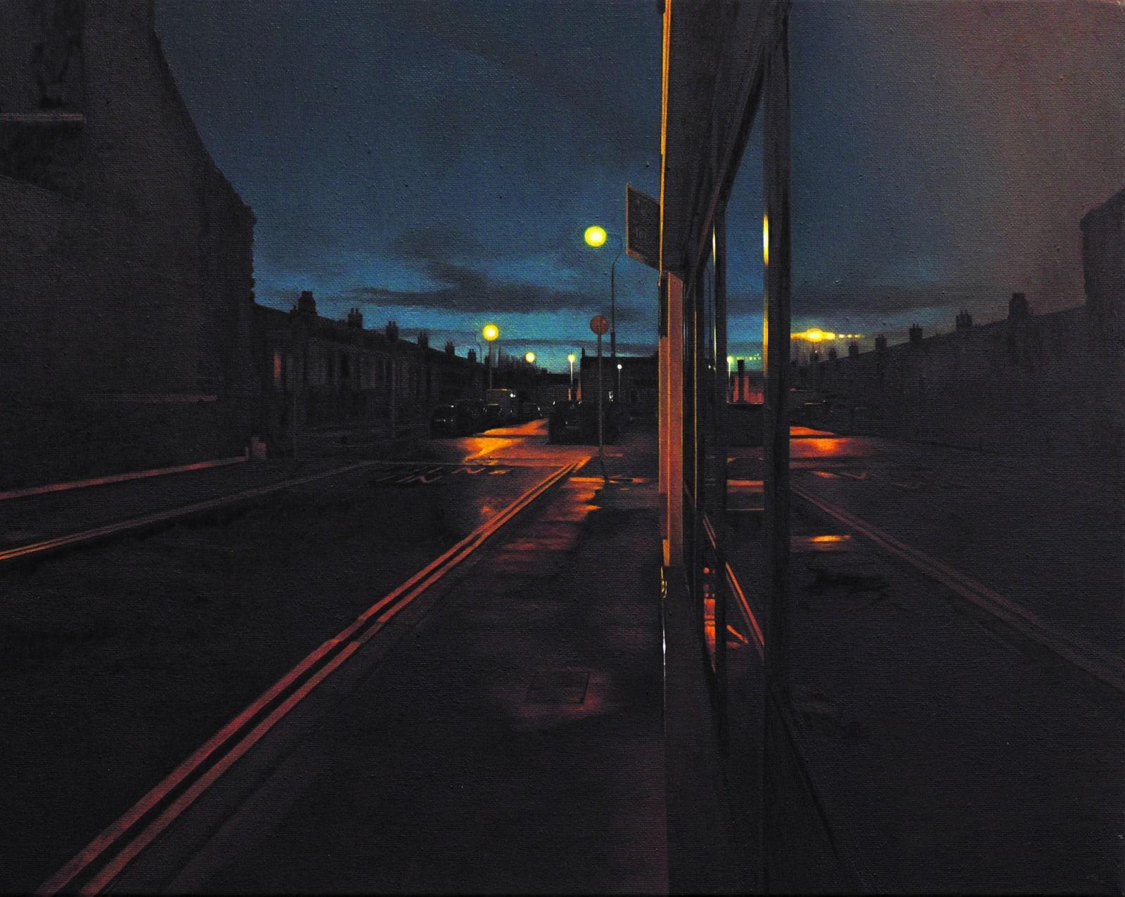 Francis Matthews  Pleasants Street  Oil on canvas  40 x 50 cm
