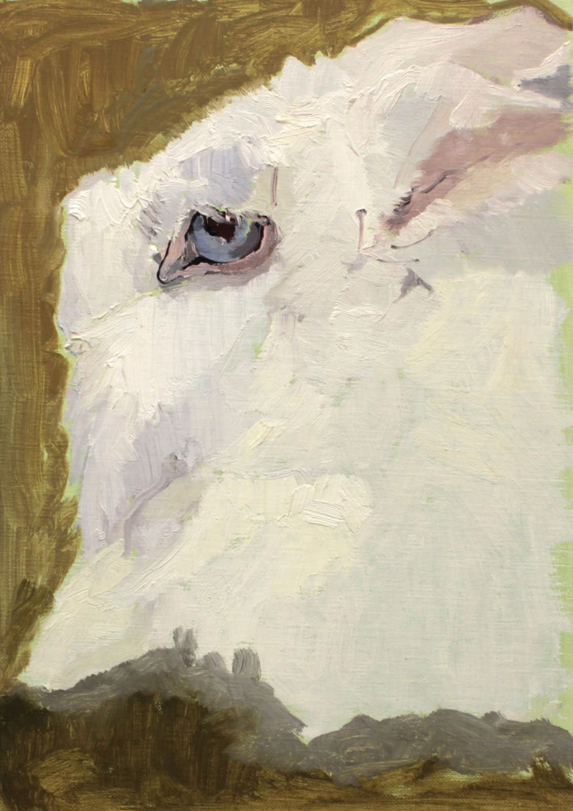 Mollie Douthit Close Cultivation Oil on linen panel 28 x 20 cm