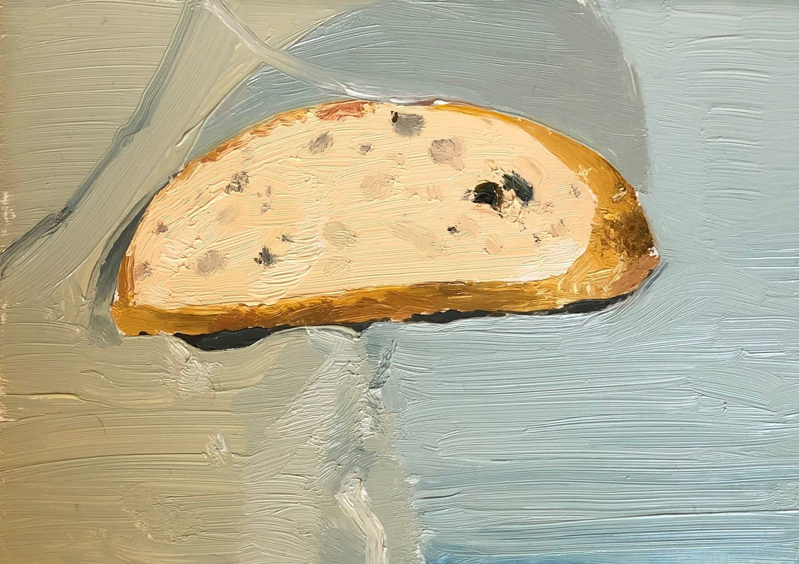 Mollie Douthit Daili bread Oil on panel 13 x 18 cm