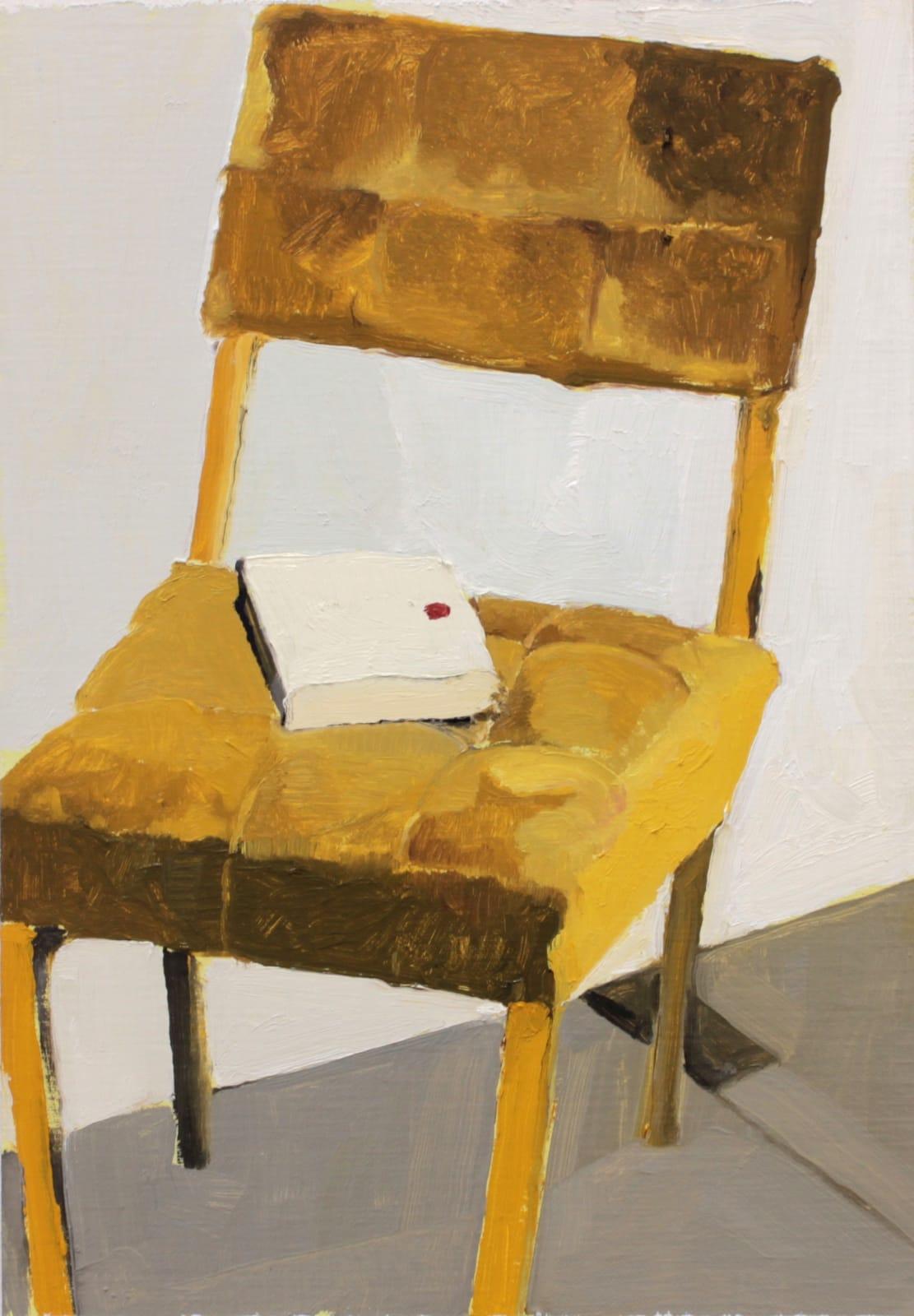 Mollie Douthit  It's a joke  Oil on linen panel  30 x 20 cm