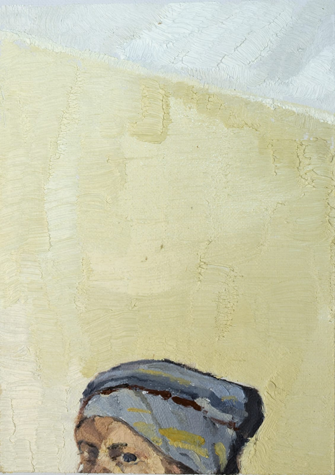 Mollie Douthit Me three Oil on canvas panel 18 x 13 cm