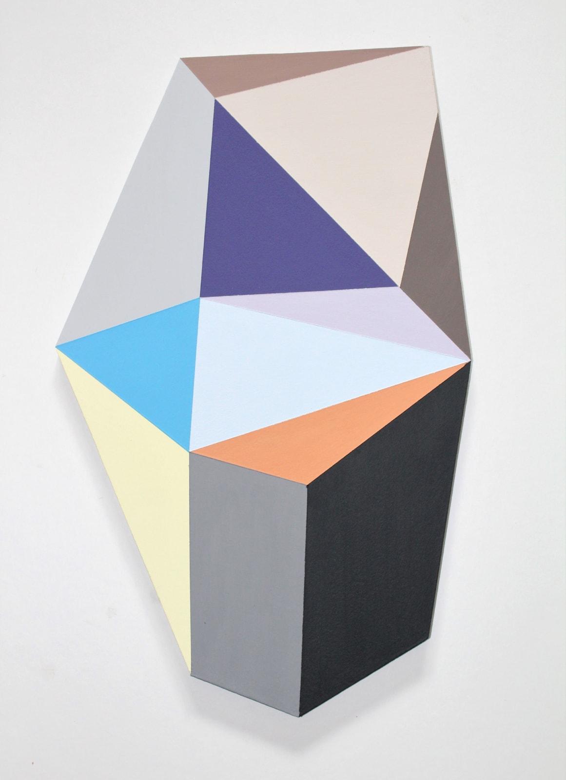 Megan Burns,  Altered space 0.10,  emulsion on board,  41 x 25 cm